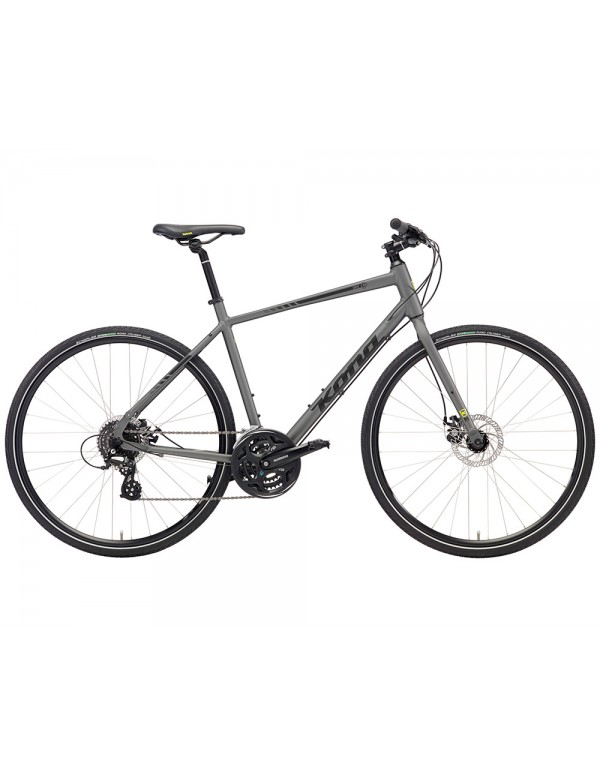 Kona Dew Commuter Bike 2018 (Matte Grey) Hybrid, Commuter and Comfort