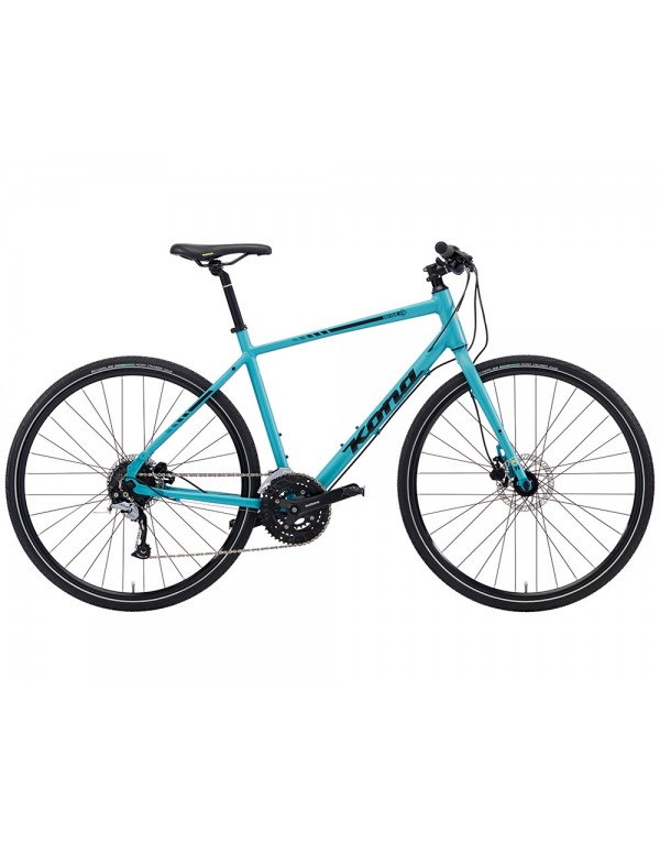 Kona Dew Plus Commuter Bike 2018 (Aqua Seafoam) Hybrid, Commuter and Comfort