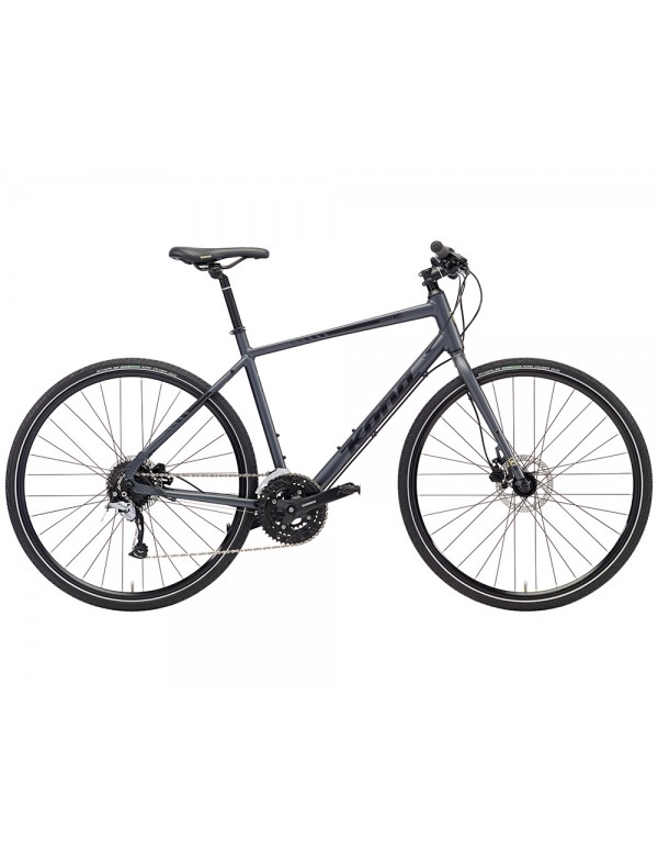 Kona Dew Plus Commuter Bike 2018 (Matte Charcoal) Hybrid, Commuter and Comfort
