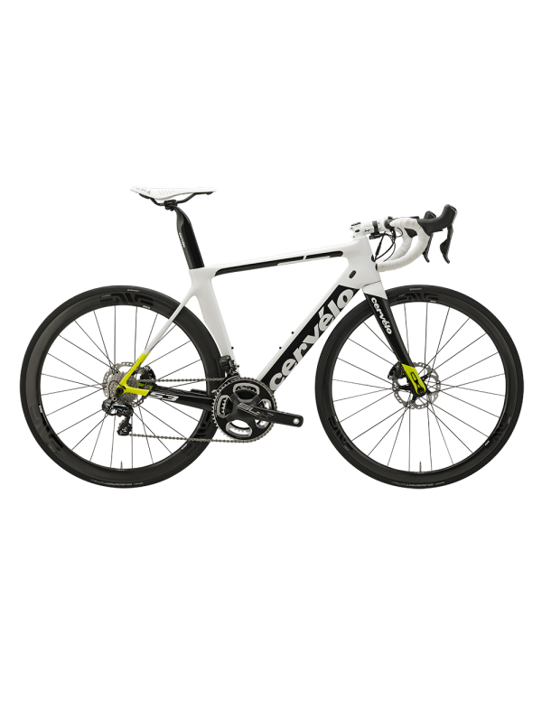 Cervelo S3 Disc Ultegra Di2 6870 Bike (White/Yellow) Road