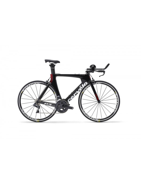 Cervelo P3 Ultegra Di2 8060 Tri TT Bike 2018 (Black/Grey/Red) TT/Triathlon